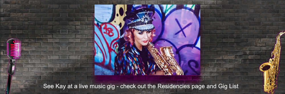 Sister Sax residencies and gig list