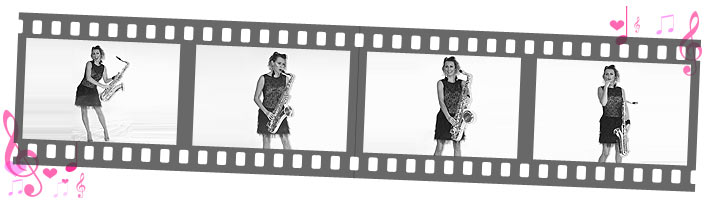 jazz page film strip of Sister Sax