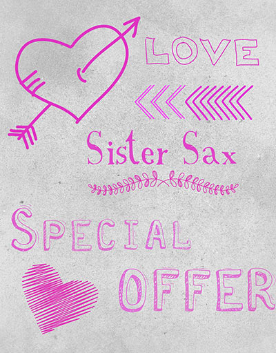 Love Sister Sax special offer