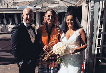 Kay with Alan and Katy at their Wedding